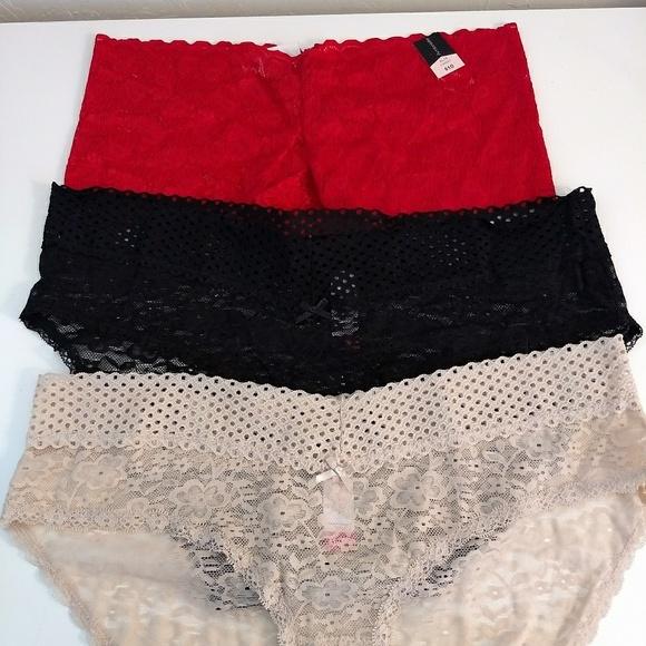 Set of 3 Lace Panties Hipster Bikini Sz 8 XL 34621ea62